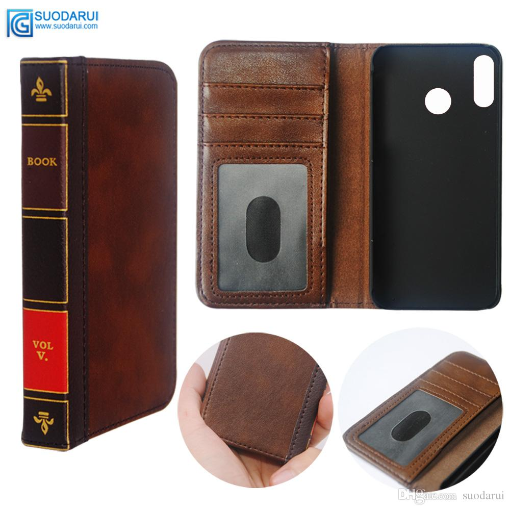 competitive price c7743 035c8 Flip Leather cell Phone Case for Lenovo Z5 Cover Wallet Retro Bible Vintage  Book Business Pouch