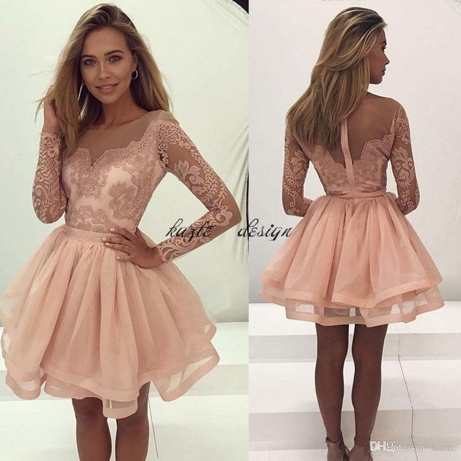 Long Sleeve Cocktail Dresses for Wedding