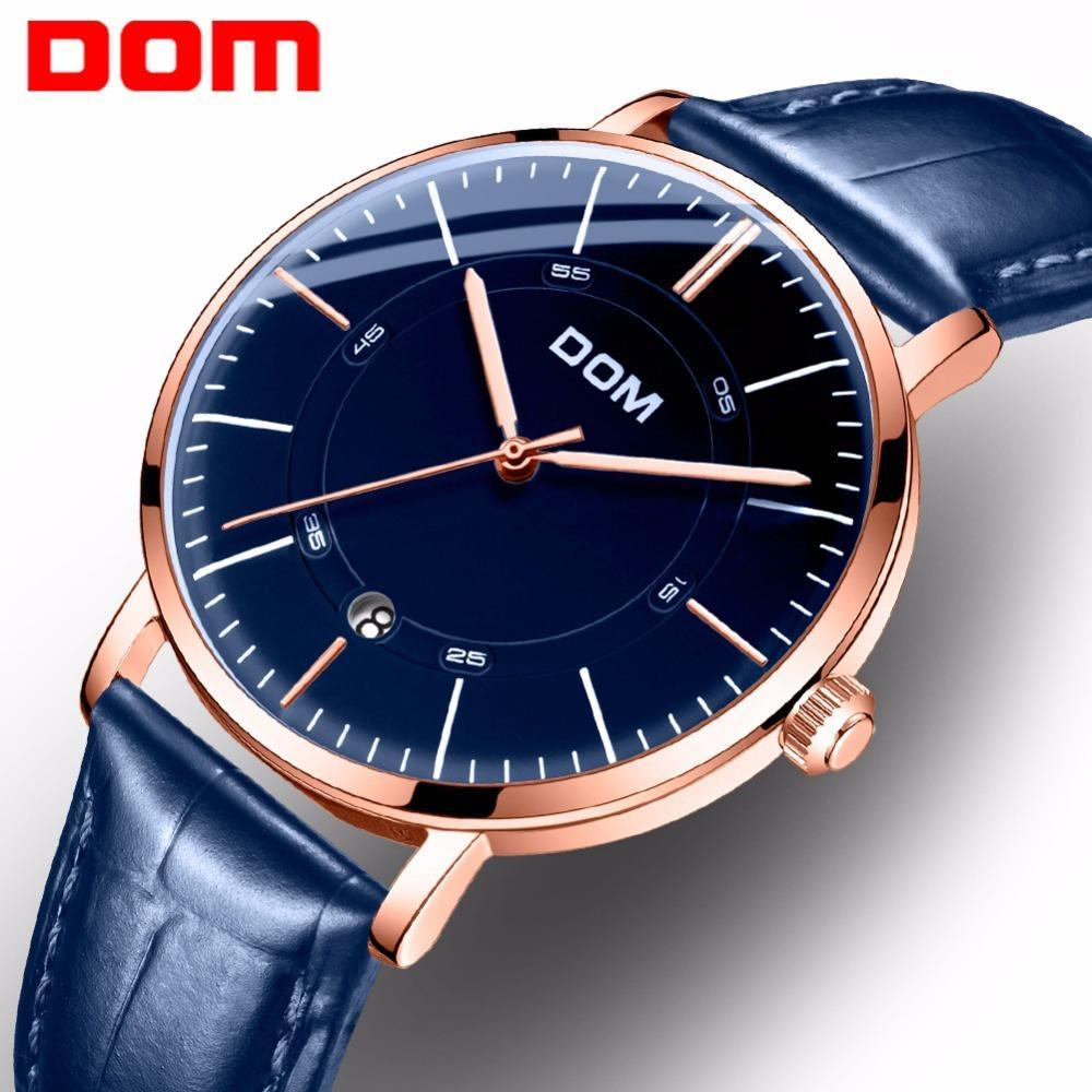 2c71e807ba2 Compre Homens DOM Relógios Top Marca De Luxo Relógio De Esqueleto De Moda  Homens Clássicos Relógio De Negócios Relógio Mecânico Automático M 8106 De  Haydene ...