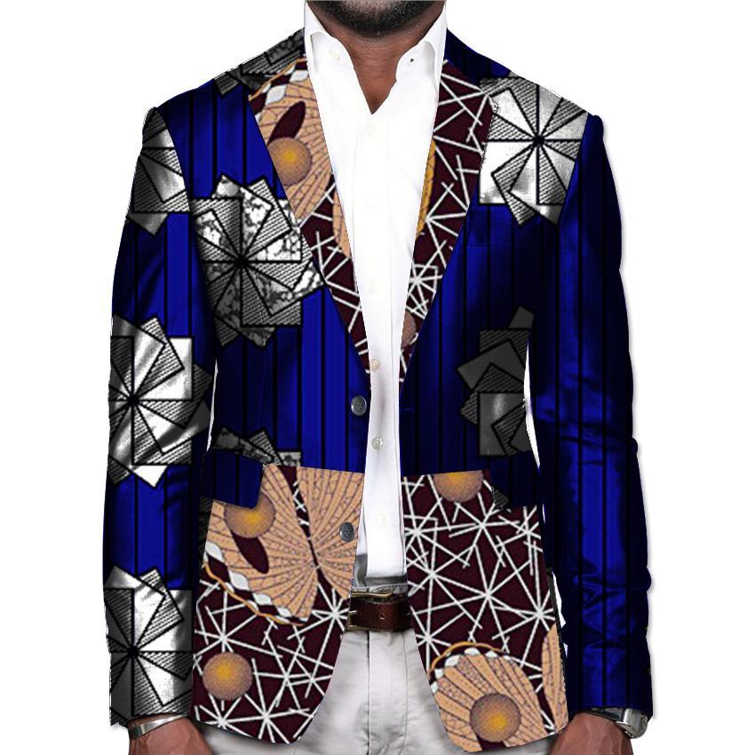 6c6316a8b0 Compre Africano Impressão Blazers Homens Ankara Jaqueta Moda Prom Jaqueta  De Casamento Do Sexo Masculino Terno Personalizado Outfit Homem Africano  Kente ...