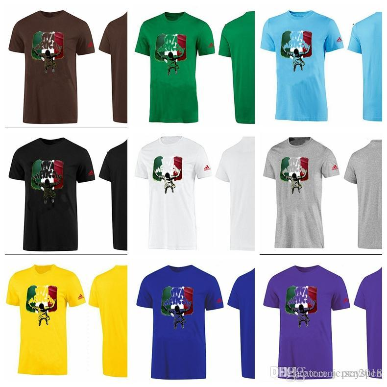 5c918b56c New Comfortable World Cup Football Printing  viva Mexico  Quick Dry  Breathable Circular Collar Pure Color Sports T-shirt Jerseys Pure Color  Short Sleeve ...