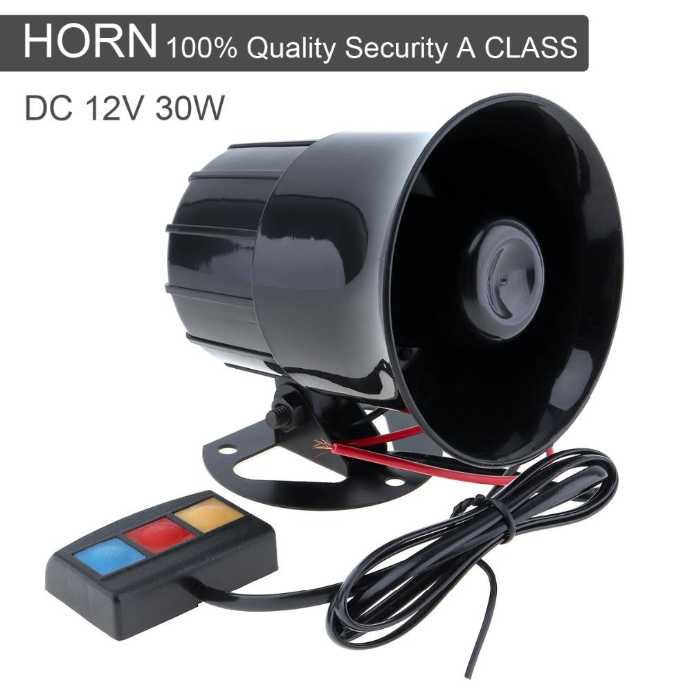 Auto Replacement Parts Multi Tone Claxon Horns 30w 12v 3 Car Sound Dual Train Horn Circuit Speaker Super Loud Siren 105db With Mic Microphone For Used Transmissions