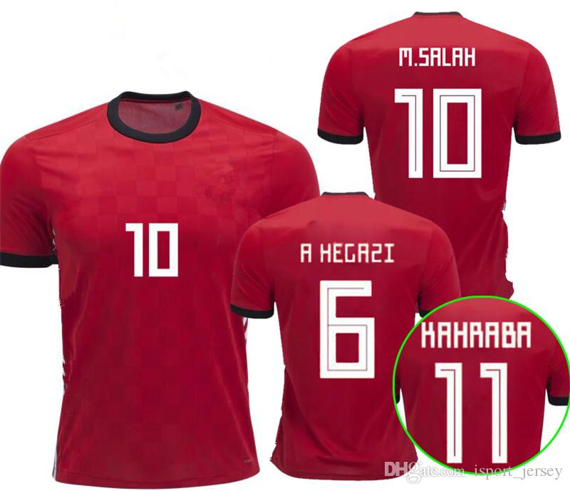 20907b9f5fd 2019 Egypt Soccer Jerseys 2018 World Cup Jersey Mohamad SALAH Home Red  Camisetas Football Soccer Shirt Thailand Quality M.SALAH Maillot De Foot  From ...