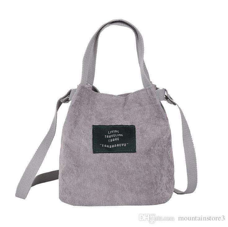 8478effb0af4 Good Quality 2018 Designer Handbag Women Bags Vintage Corduroy Shoulder Bag  New Corduroy Bucket Shoulder Handbags Purses For Sale Leather Purse From ...