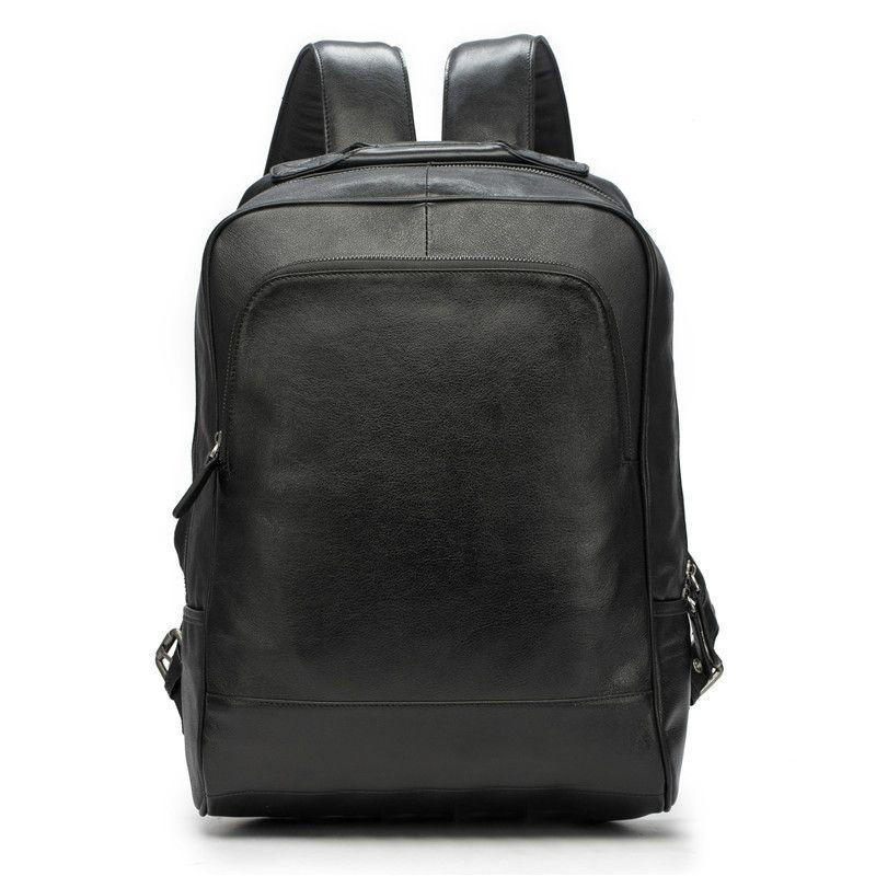 Backpacks New Genuine Leather Mens Backpack Male Big Shoulder Bag Korean Fashion Travel Bags First Layer Leather Brown Laptop Backpacks