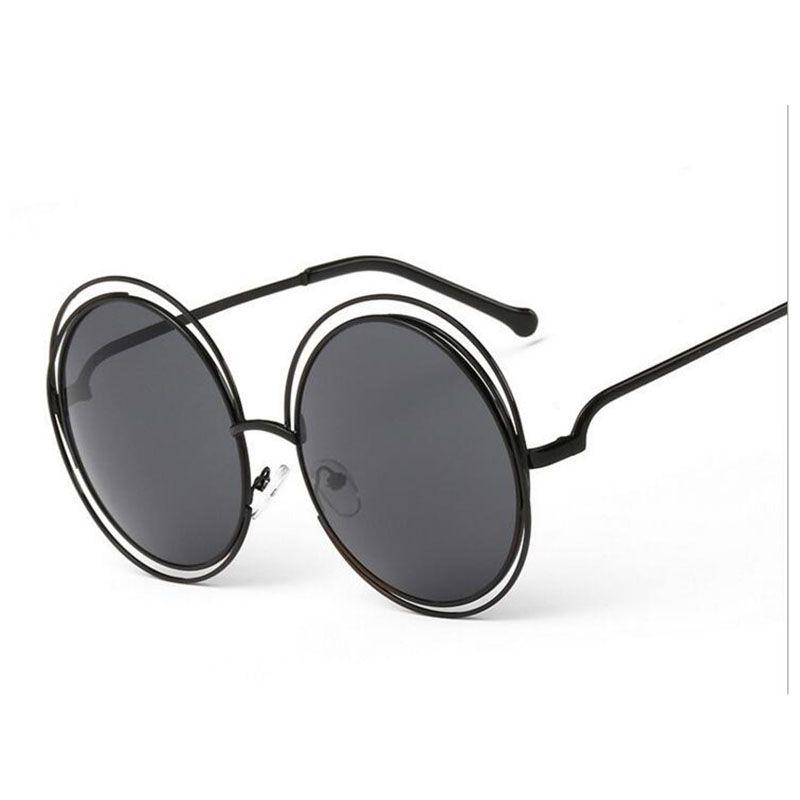 3e027bb17 Luxury Round Sunglasses Women Brand Designer 2018 Vintage Retro Oversized  Sunglass Female Sun Glasses For Women Sunglass Mirror Oversized Sunglasses  Best ...