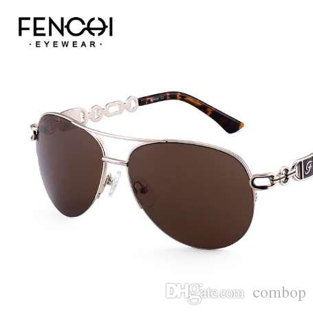 0624ead976fdd FENCHI Sunglasses Women Driving Pilot Classic Vintage Eyewear Sunglasses  High Quality Metal Brand Designer Glasses UV400 Cat Eye Sunglasses Round  Sunglasses ...