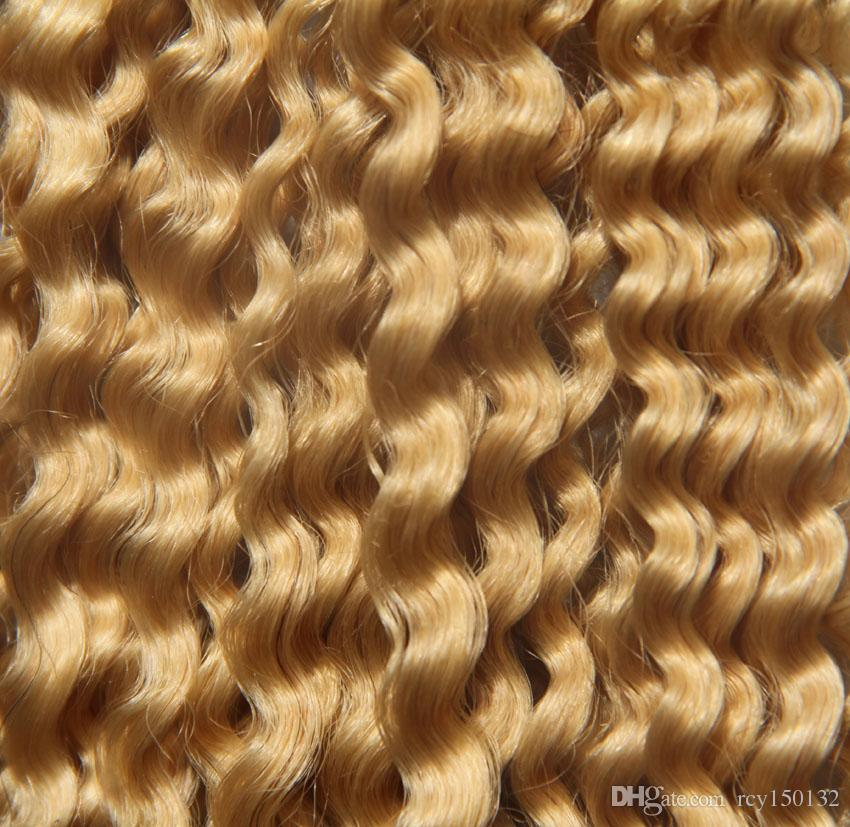 613 Bleach blonde afro kinky curly clip Human Hair Extensions Remy Human Hair 100g kinky curly virgin thick clip in hair extension