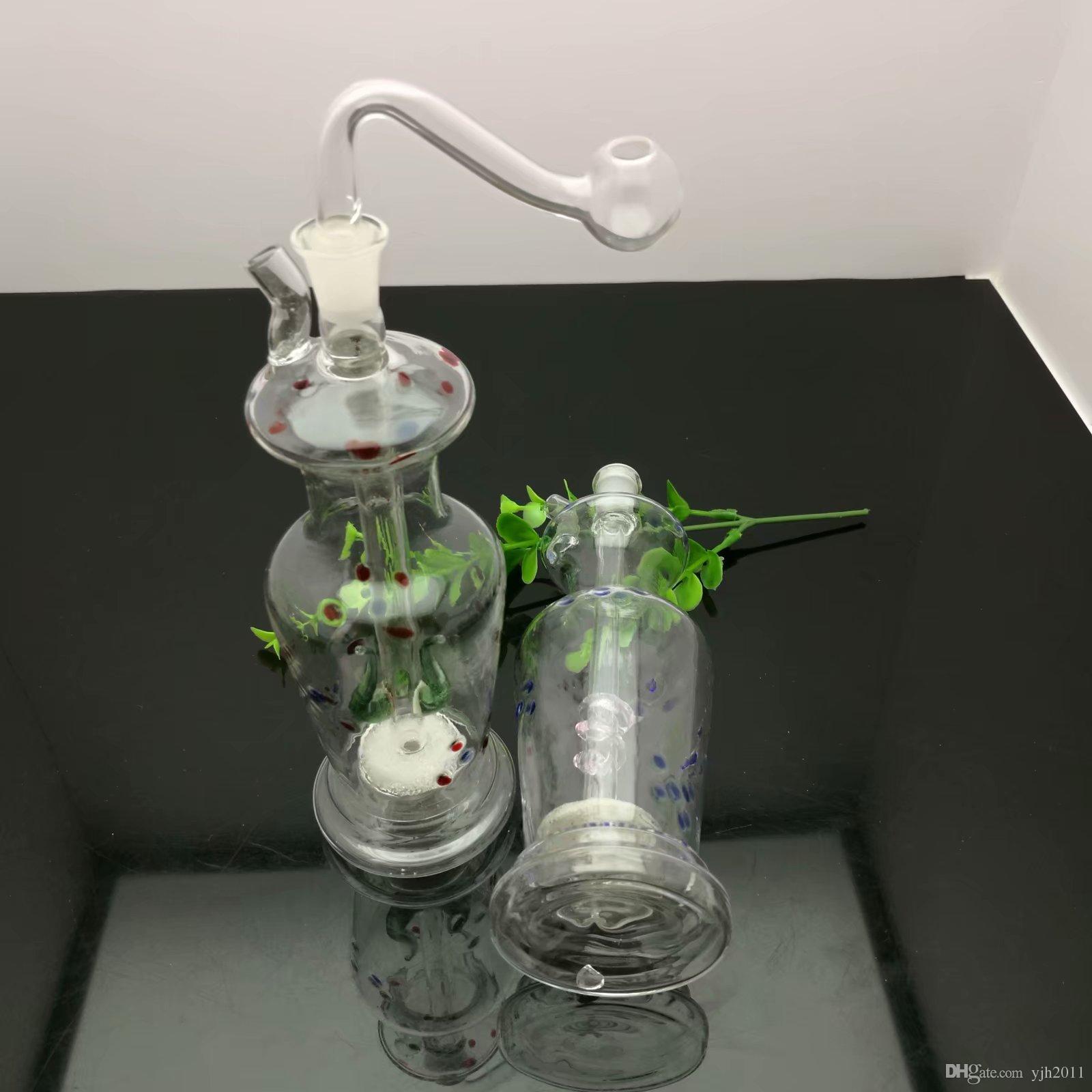 Colore Punto di sabbia pistola ad acqua di vetro bongs nucleo di vetro all'ingrosso del bruciatore a nafta Pipes bicchiere d'acqua oil rig fumatori spedizione gratuita