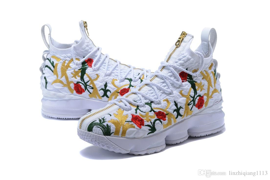 Hot 15 Kings Cloak Basketball shoes cheap sales With Box 15 KITH Performance Floral shoes Free shipping store