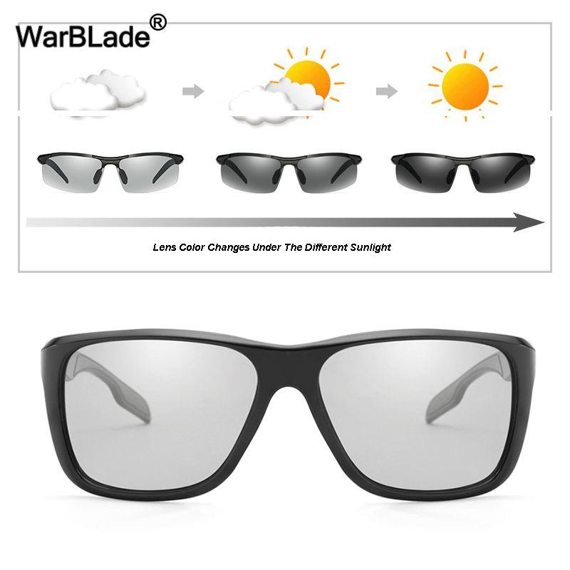 44ad81a0c8 WarBLade Polarized Photochromic Sunglasses Male Discoloration Chameleon Sun  Glasses Men Glare Block Driving Fishing Sunglasses Sunglasses Sale Kids ...