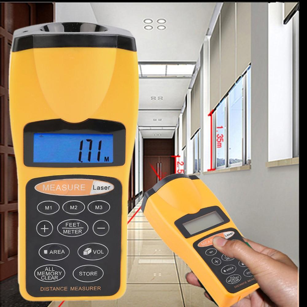 LCD Measure Distance Meter Pointer Laser Point Range Finders 18m Tool  Rangefinders Area Volum Laser Designator Night Light Backlight