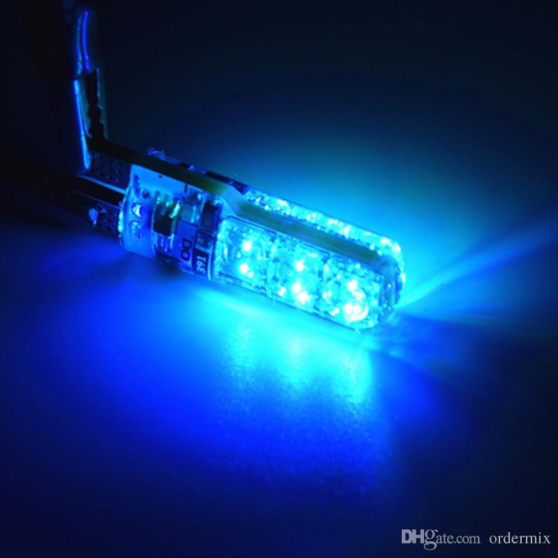 1 زوج مقاومة للحرارة فائقة مشرق T10 6 بقيادة 5050 RGB متعدد الألوان الخفيفة للماء إسفين أضواء السيارات 12V العاصمة