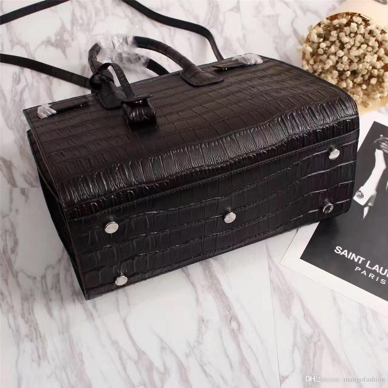 144318716 Top Quality Real Leather Fashion Women Genuine Leather Handbag Crocodile  Grain Sac De Jour Shoulder Bag Handbags Totes Bags Cute Handbags Backpacks  From ...