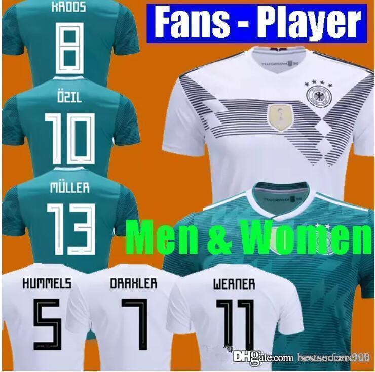83c97baa84c FANS PLAYER VERSION MULLER OZIL Germany Soccer Jersey DRAXLER 2018 ...