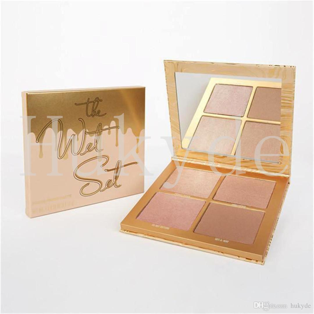Kylie Vacation The Wet Set With 4 Colors Bronzer & Highlighter Vacation Edition Llluminating Powder Highlighters Eyeshadow Kit