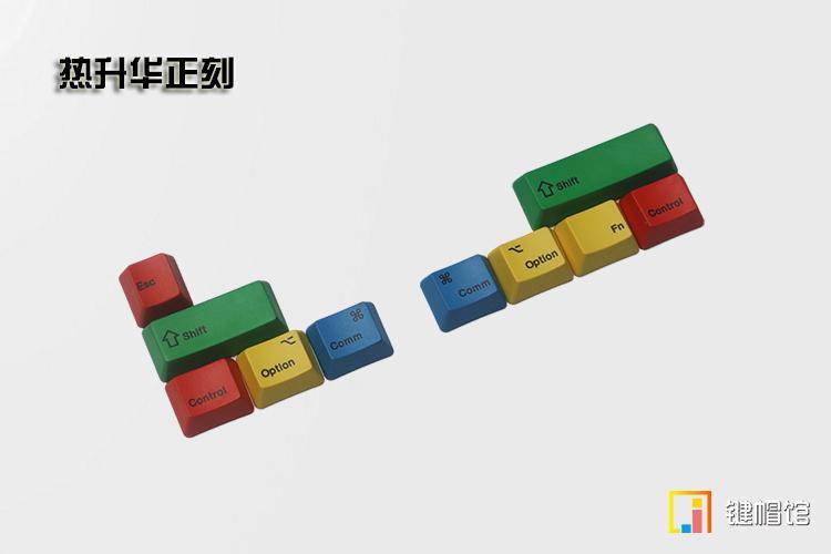 Mac add on kit mechanical keyboard dyesub keycap top print add-on kit PBT  keycap command option cap OEM height