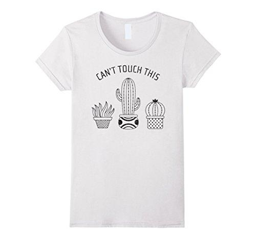 49db2c3bc Women's Tee Can't Touch This Cactus Plant Pot Slogan T-shirt For Lady Hip  Hop Tee Shirt Women Hot Selling T Shirt Printed Tee Shirt