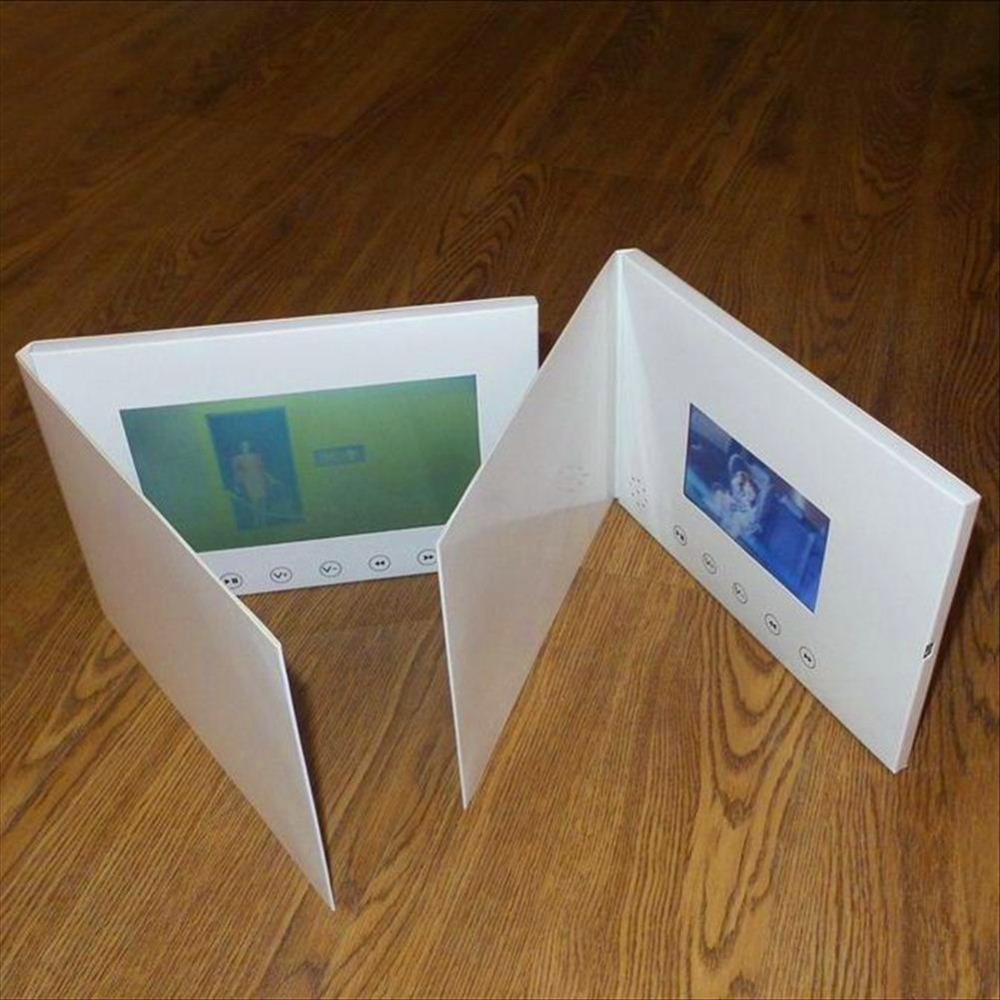 7inch Screen Brochure Universal Video Greeting Cards Fashion Design