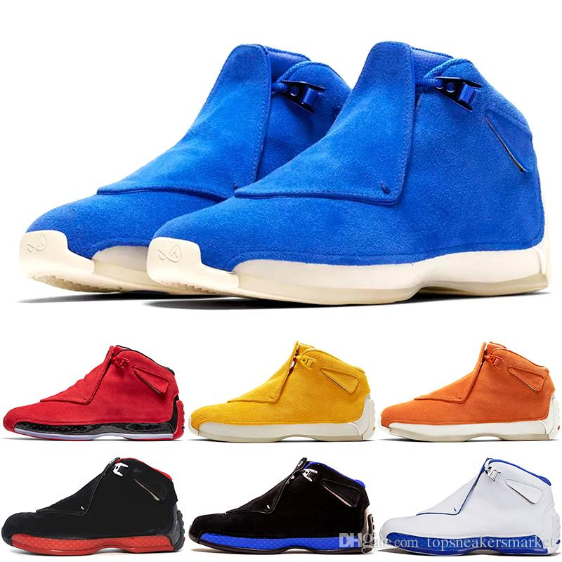 a85897a9ef96 Men 18 18s Toro Basketball Shoes Red Suede Yellow Orange Blue Royal Cool  Grey OG CDP Mens Sport Trainer Athletic Sneakers 8 13 Dropshipping Best  Basketball ...