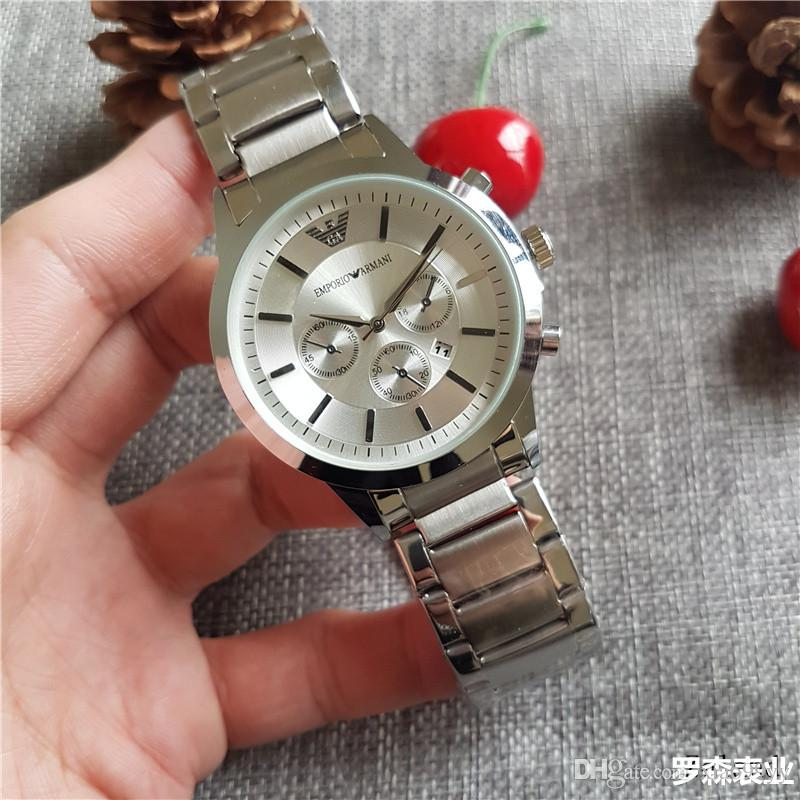 69d08b2ff6cf1 Luxury Top Brand Casual Classic Men Watches 3 Eyes Automatic Date Silicone  Straps Quartz Wrist Watch For Mens Women Boy Relogio Masculino Wrist Watchs  Best ...