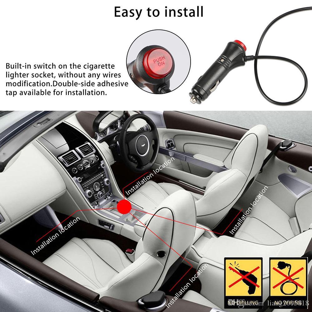 4шт 12 LED 5050 SMD интерьер автомобиля Атмосфера лампы Auto 12V RGB неон Strip Music Control + ИК-пульт Новый
