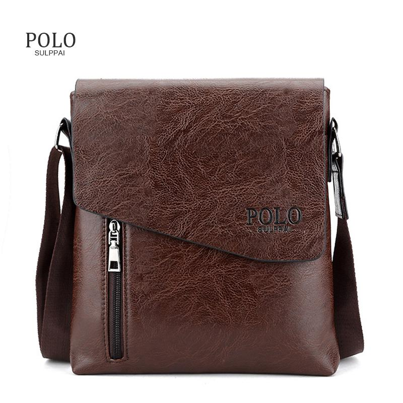 cf306a298e0b POLO Sulppai Casual Leather Handbags Men Bags Business Fashion Messenger  Bag Men s Shoulder Bag Crossbody Satchels Bolsos