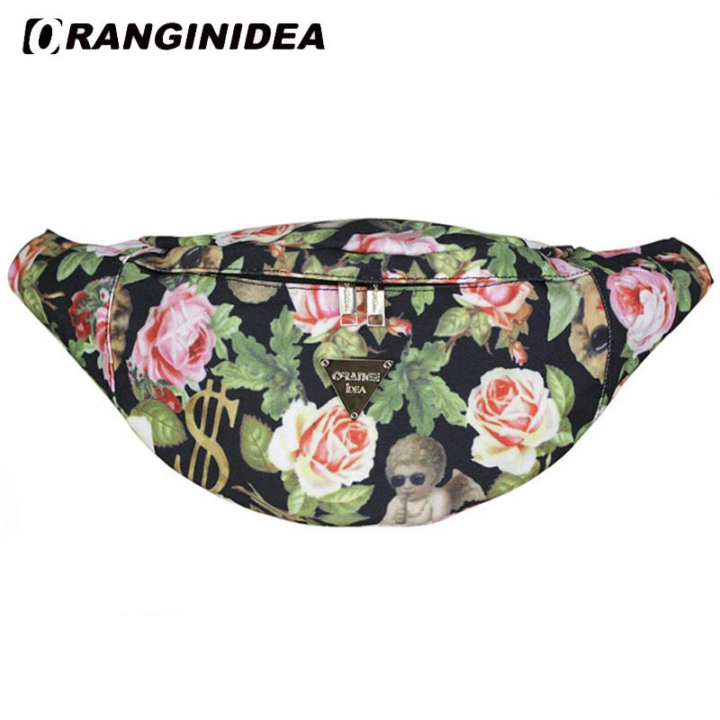 ebf1ba1508 Women Waist Pack Canvas Floral Fanny Packs Belt Bum Bag Women s Waistband  Banana Bags Buckle Waist Bag Unisex bolso cintura