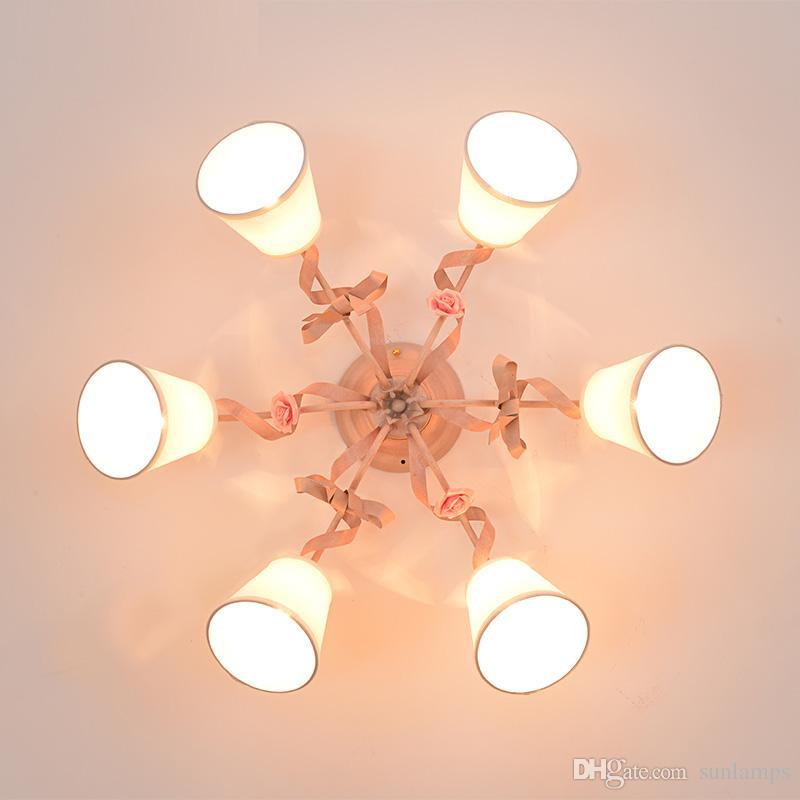Koreanische Eisen Herz Schlafzimmer Deckenleuchten Esszimmer Deckenleuchten  Kinderzimmer Lampe romantische Hochzeit Zimmer Deckenleuchten