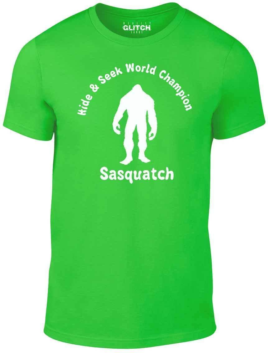 926196e82 Sasquatch Hide & Seek Champ T Shirt Funny T Shirt Bigfoot Monster Comic  Legend Cool Team Shirts Crazy Shirt Designs From Zhangjingxin07, $14.67|  DHgate.Com