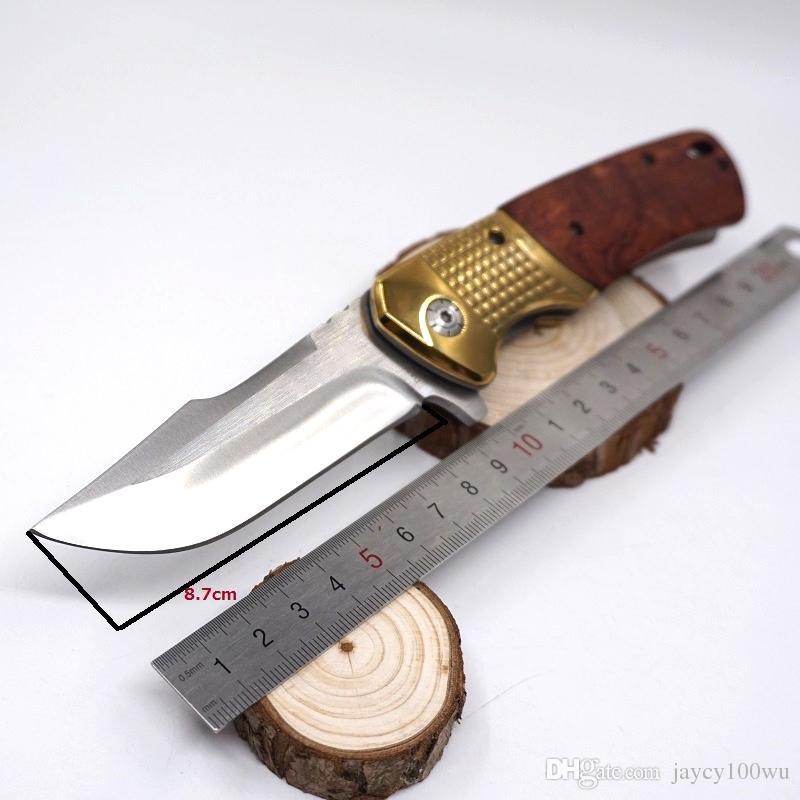 Taktik Av Bıçağı 440C Çelik Katlanır Bıçak Pocket Knife Ahşap Kol Açık Pocket Survival Bıçaklar EDC Araçları İyi Hediye