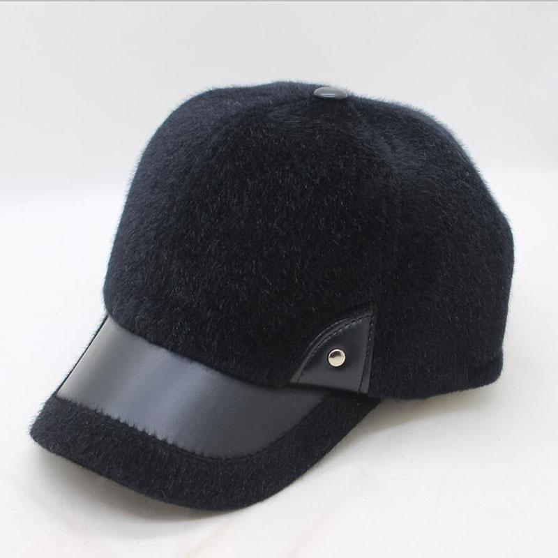 SUOGRY 2018 Warm Winter Thickened Baseball Cap Men S Cotton Hat Snapback  Winter Hats Ear Flaps For Men Women Hat Wholesale Black Baseball Cap Army  Cap From ... 7b2a4b7f7d3