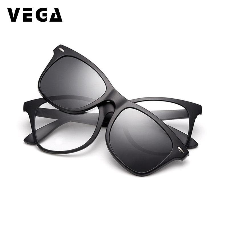 50fb7dd103 VEGA 2 In 1 Polarized Magnetic Clip On Sunglasses Over Prescription Glasses  Men Women Fit Over Magnetic Sunglasses 2208 Polarised Sunglasses Baby  Sunglasses ...