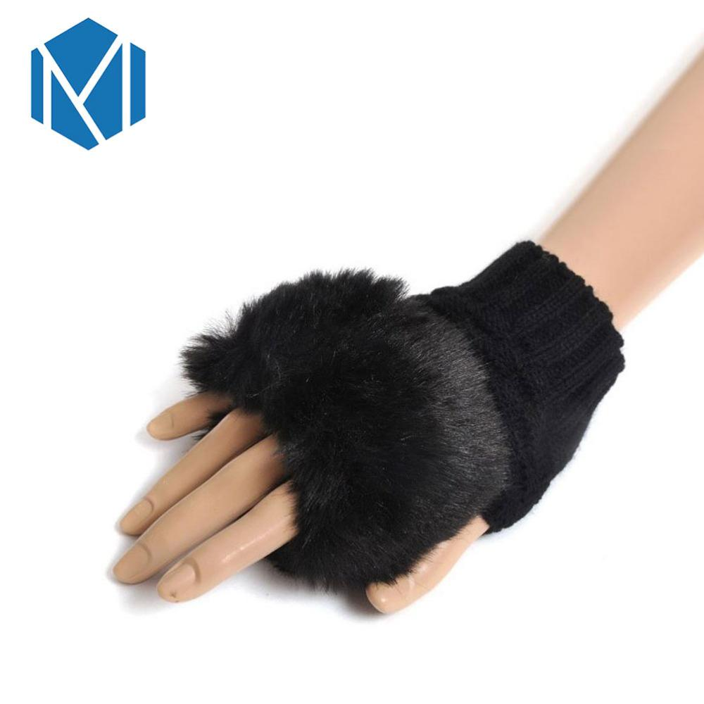 5977727d8205 2019 MISM Pompom Fingerless Gloves Outdoor Girls Mittens Winter Warm ...