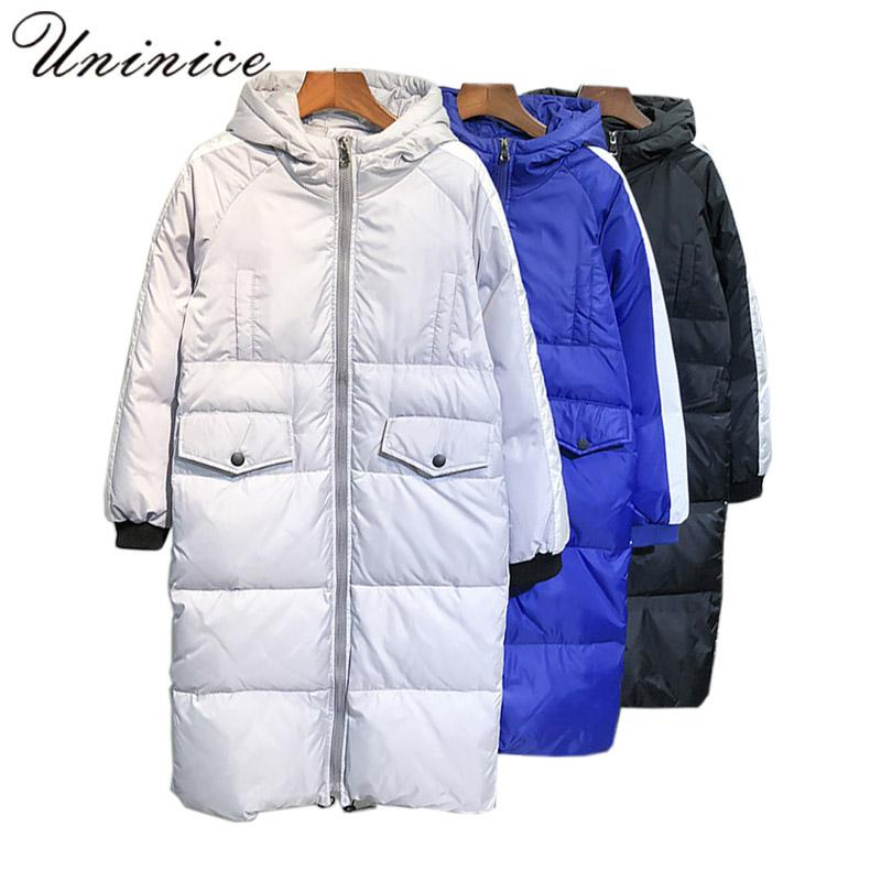 e33db7116 new men s down coat plus size 5XL winter COATS 90% white down jacket male  LONG thick out warm coats printed teenager