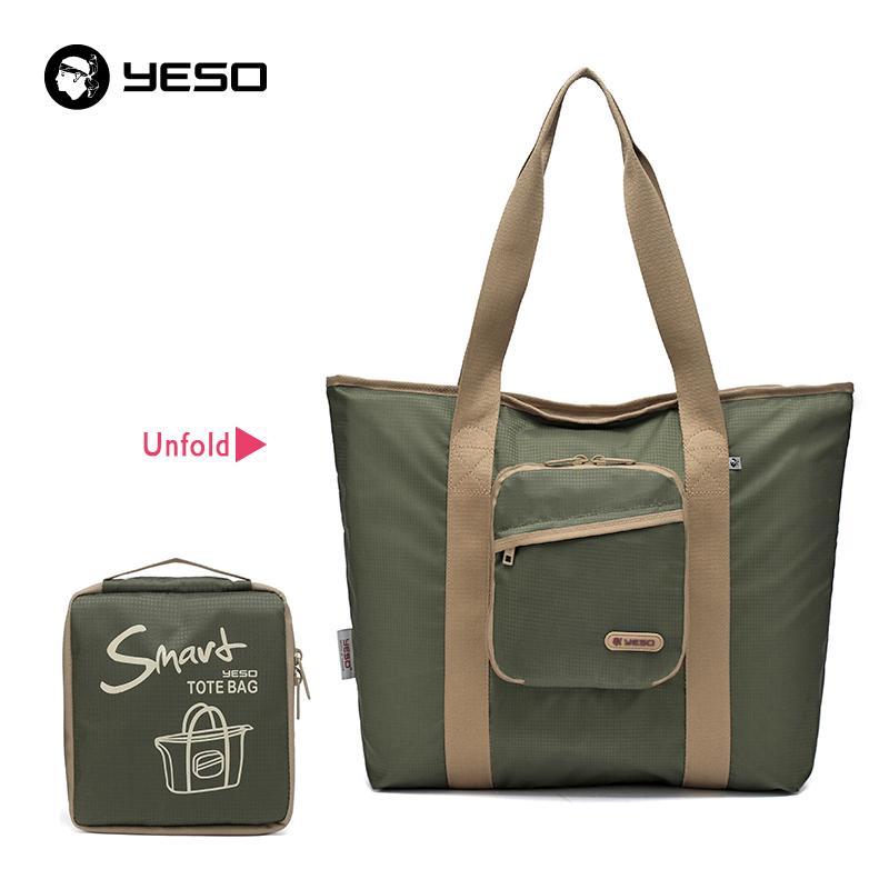 85a4e221b682 YESO Casual Women Tote Bags Multifunction Waterproof Nylon Foldable Top  Handle Bags Portable Lightweight Folding Bag For Ipad Handbag Wholesale  Womens Bags ...
