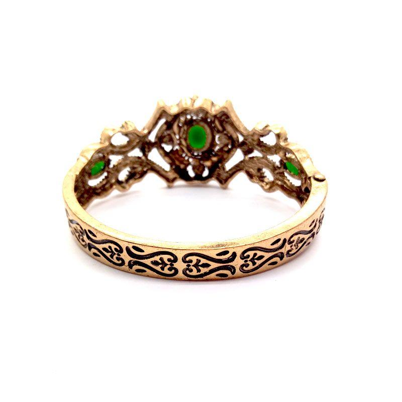 2018 Antique Turkish Women Bead Link Bracelets Tulip Resin Cuff Retro Gold Plate Vintage Decorative Pattern Bridal Bracelets Jewelry
