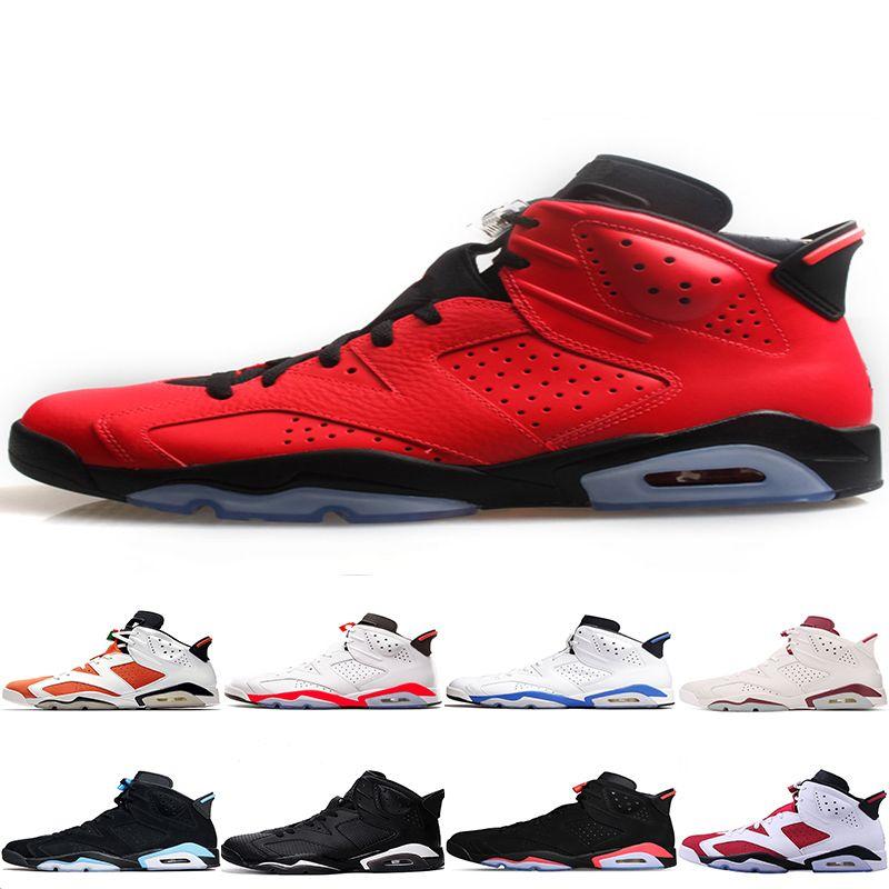 reputable site 4bcb3 8e1ec Großhandel 2018 6 Herren Basketball Schuhe UNC Black Cat Weiß Infrarot Rot 23  Carmine Maroon Frauen Sport Turnschuhe Von Mens sport shoes,  95.81 Auf De.