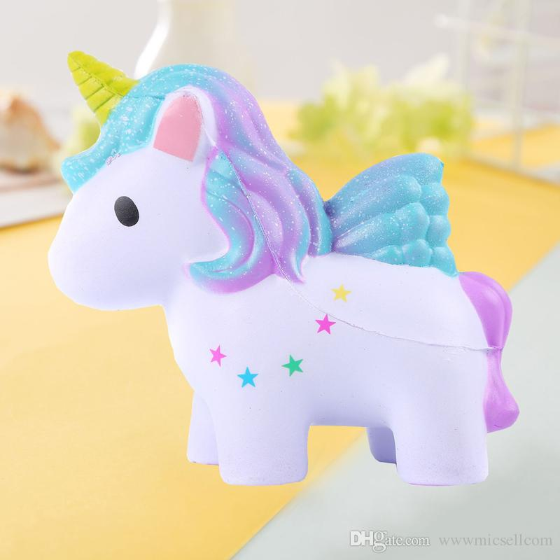 Squishy Oyuncaklar Squishies Yavaş Yükselen Jumbo Kawaii Çocuklar Parti için Sevimli Renkli Unicorn Kremsi Kokusu Parti Oyuncaklar Stres Rahatlatıcı Oyuncak