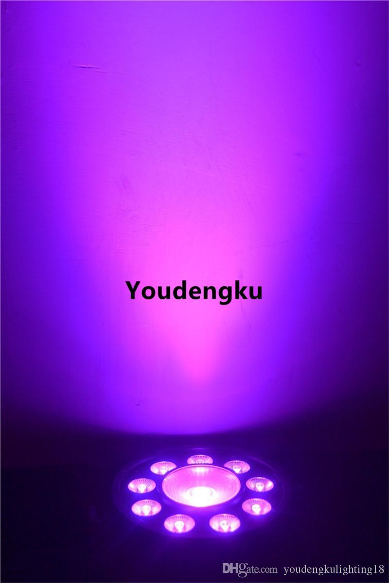 4 stücke RGB 3IN1 Mischfarbe 9 + 1 LED Par Kann Licht billig led flach par RGB licht
