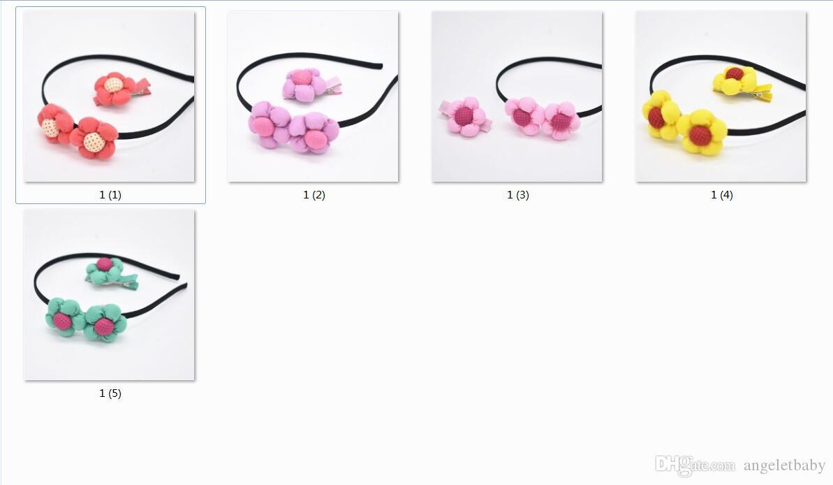 02bdfa1f506 Girls Headwear Accessories Sunflower Hair Clip   Hair Clasp Set Hair Hoop  Beautiful Headbands Princess FG118 Wholesale Baby Hair Accessories Fashion  Hair ...