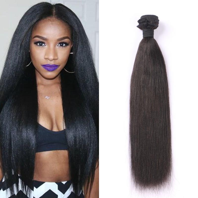 Wholesale Human Hair Yaki Straight Virgin Hair Bundles For Black Women  100g Pc Natural Color Malaysian Hair FDshine Deep Wave Human Hair Weave  Outre Human ... f7fb3f2d04