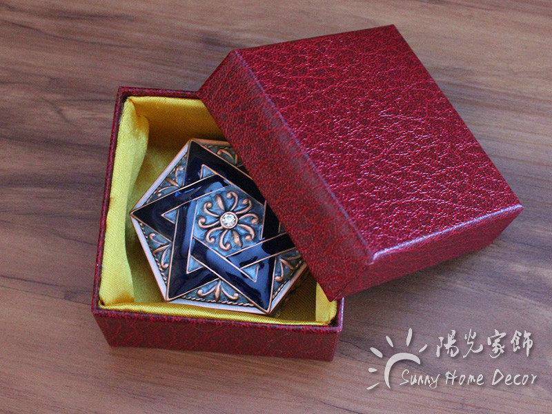 New Arrival Hexagon Jewelry Box Enameled Trinkets Carrying Box cute Vintage Flower Carved Gift Packing Box