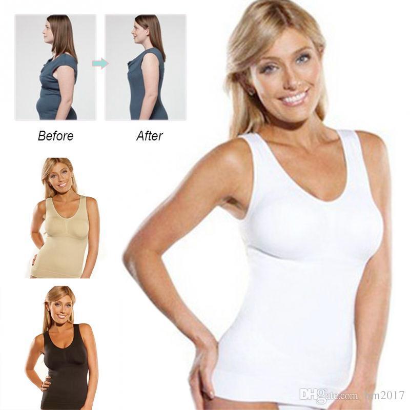 f5afbd1f80 2019 DHL Hot Body Shaper Slim Up Lift Plus Size Bra Cami Tank Top Women  Body Shaper Removable Shaper Underwear Slimming Vest Shapew From Hm2017