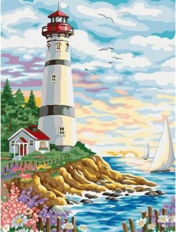 "Full Square/Round Drill 5D DIY Diamond Painting ""Light house"" Embroidery Cross Stitch Mosaic Home Decor Gift"