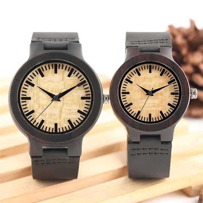 295b5d73848 YISUYA Couple Watches Wooden Case Lover s Gift for Men Women Lover s ...