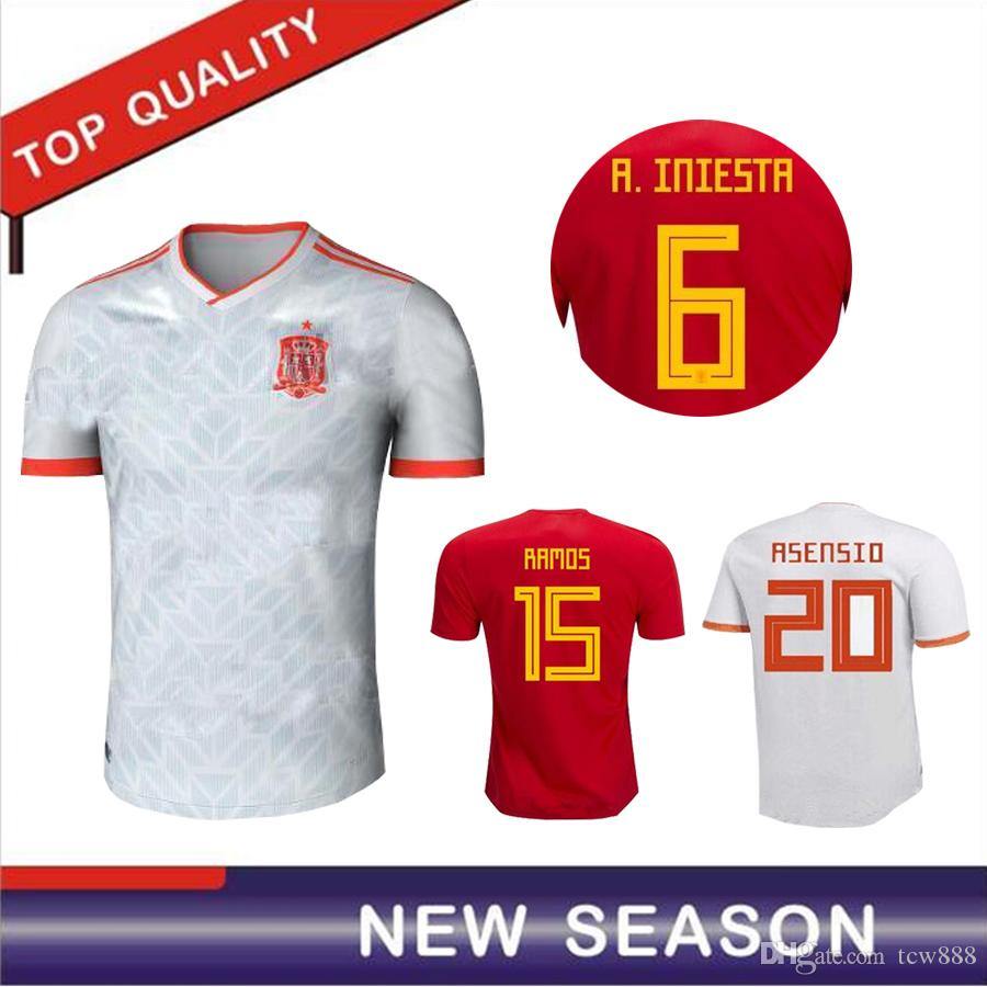 a0c4f23fa 2018 world cup spain jersey home away soccer jersey 2018 spain jersey  morata isco a.