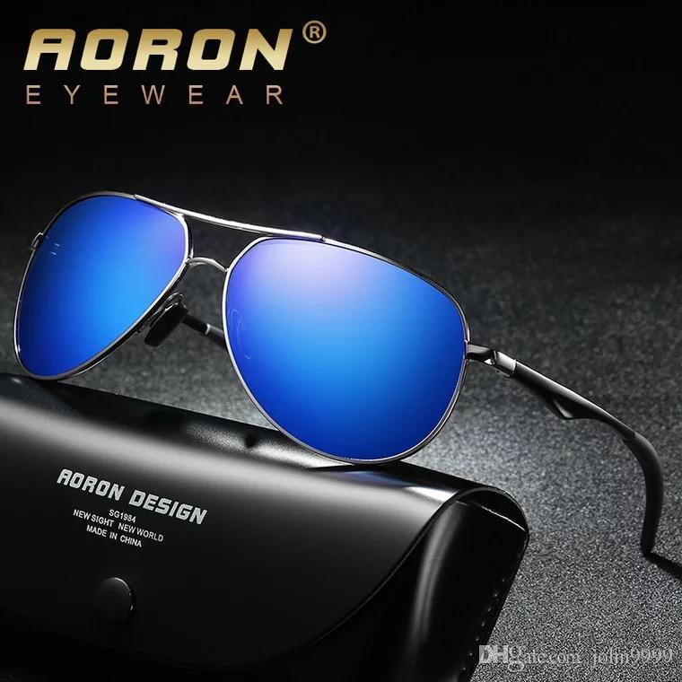 Compre 2018 Moda Masculina Polarizada Luz Óculos De Visão Noturna Espelho Motorista  Óculos De Sol De Alumínio Perna De Magnésio A537 De John9999, ... 1af85b2077