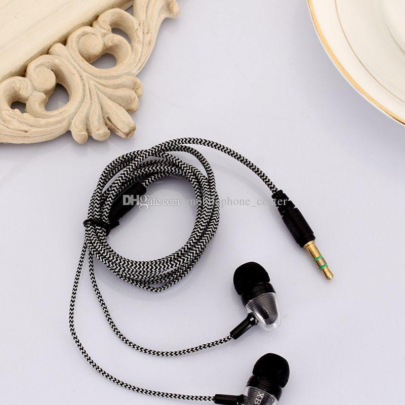 Yeni 3.5mm Kulak Stereo örgülü Kulakiçi Kulaklık Için Samsung Galaxy Için cep telefonu cep telefonu