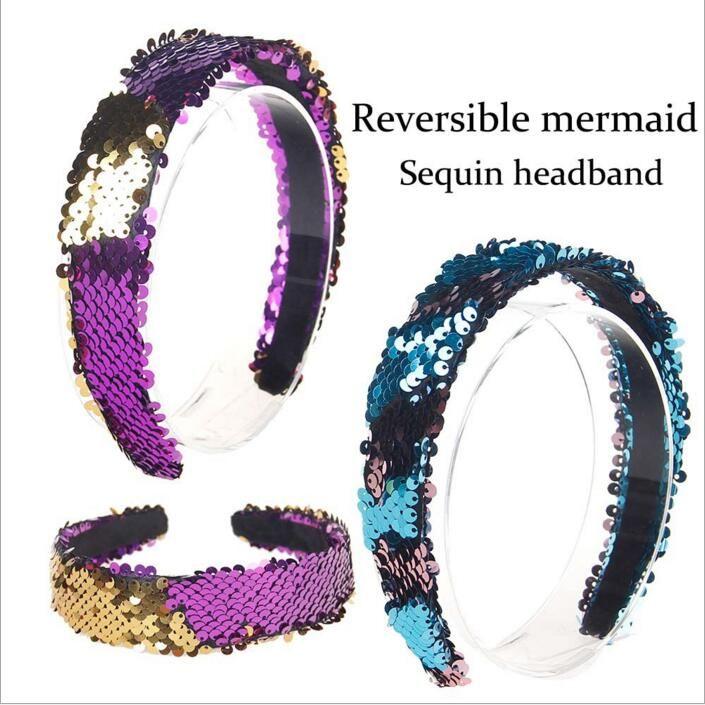 Compre Reversible Sirena Vendas Mujeres Lentejuelas Glitter Head ...
